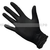 Перчатки нитриловые  черные XL 100 шт. (10) (С)