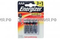 ПРОМО 4шт (3+1) Энерджайзер Батарейка MAX АА *6*24