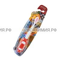 """VILSEN зубная щетка детская """"Эмоджи"""" АВТОДРОМ +3 ручка-машинка *12*144*"""