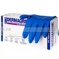 Перчатки DERMAGRIP Хайриск L латексные  50 шт. (10) (С)