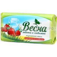 Мыло туалетное Весна Земляника со сливками 90 гр *72