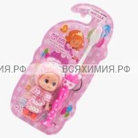 VILSEN зубная щетка детская с игрушкой КУКЛА +3 *12*24