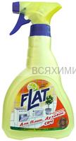 FLAT Очиститель КУРОК для плит, духовок , СВЧ Лимон 480мл *6