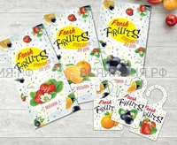 Fresh Fruits Ароматизатор д/дома ( АПЕЛЬСИН) *20*40