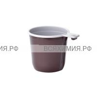 Чашка кофейная 200 мл бело-коричневая *50*25