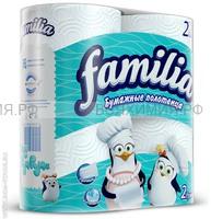 ХАЯТ Полотенца Familia 2-х сл. 2 шт. бел. *12