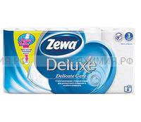 Туалетная бумага Zewa Deluxe 3-х сл. 8 шт. *7 белая
