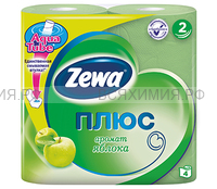 Туалетная бумага Zewa+ 2-х сл. 4 шт. *24 яблоко