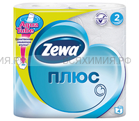 Туалетная бумага Zewa+ 2-х сл. 4 шт. *24 белая