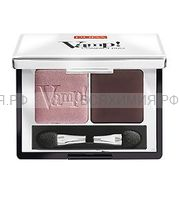 ПУПА Компактные двойные тени VAMP 002 розовая земля