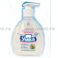 Умка Жидкое мыло детское гипоалергенное для подмывания младенцев *6*24