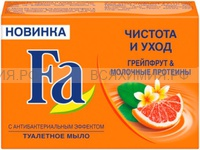 """Мыло """"ФА"""" Чистота и Уход Грейпфрут & Молочные протеины 90гр. *5*40"""