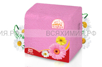 Салфетки Семья и комфорт 100 листов тонированные в ассортименте (45 шт в упаковке)
