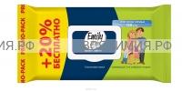 Эмили Стайл влажные салфетки с клапаном Для всей семьи 100шт + 20 шт БЕСПЛ. *12