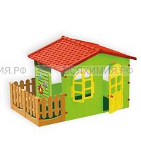 Домик с забором большой 10498