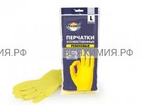 AVIORA Перчатки ХОЗЯЙСТВЕННЫЕ резиновые L *12*120