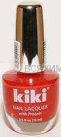 КИКИ Лак для ногтей SILVER с протеином 111 красный