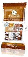 РУСАЛОЧКА Влажные салфетки для ухода за Кожаными изделиями и мебелью 24шт *10*40*