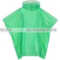 МиМ Дождевик – пончо в шаре рост 125 зеленый (125*98*30) *5*25
