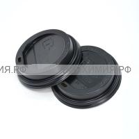 Крышка D90мм 3,0 РS черная с отверстием *25*24