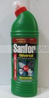 Санфор УНИВЕРСАЛ жидкость для чистки и дезинфекции 750гр.Лимон/Яблоко *5*15