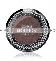 ЛюксВизаж Тени моно метал RICH GLOW 11 шоколадный