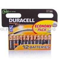 12-и штучная Батарейка Дюраселл ААА (м.пальч) *1*12
