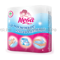 Полотенца бумажные Nega белые 2-х сл. 2 шт. *12