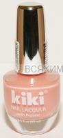 КИКИ Лак для ногтей SILVER с протеином 128 розово-бежевый