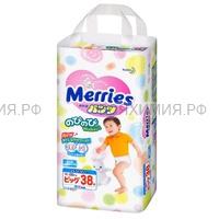 MERRIES Трусики-подгузники для детей размер большие XL 12-22 кг /38шт *1*3