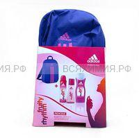 adidas набор женский Фрути Ритм туалетная вода 50мл+ спрей + гель для душа + рюкзак *1*4