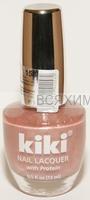 КИКИ Лак для ногтей SILVER с протеином 158 светло-сиреневый