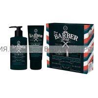 """Набор МУЖ """"BARBERSHOP"""" Шампунь(320мл)+Бальзам после бритья для кожи и бороды(100мл) *4*8"""