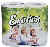 Туалетная бумага Мягкий знак Emotion 3-х сл. белая 4 шт.(18)