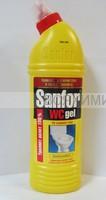 Санфор WS Гель для для чистки и дезинфекции 750гр. Лимон *5*15