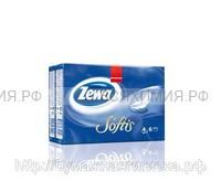 Платочки бумажные ZEWA Softis 4-х слойные 10л.х6шт. *24