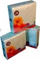 Салфетки 'Цепрусс' 25*25 тонированные 50 л. 2-х слойные MIX цветов: жёлтые, голубые, розовые, персиковые *80