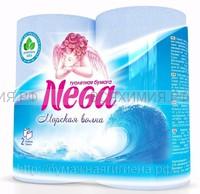Туалетная бумага Nega Aroma Морская волна 2-х сл. 4 шт. голубая *12