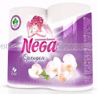 Туалетная бумага Nega Aroma Орхидея 2-х сл. 4 шт. белая *12