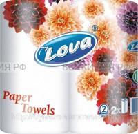 Полотенца myLova 2-х слойные белые 2 шт. *20