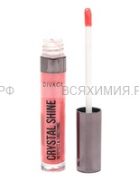 Divage Блеск для губ LIP GLOSS CRYSTAL SHINE 09 светло коралловый перламутр