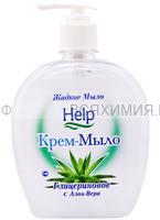 ХЕЛП Жидкое мыло с ДОЗАТОРОМ Глицериновое 500мл *6*12
