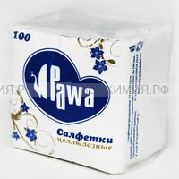 Салфетки Pawa 24х24 100 л. однослойные белые * 42