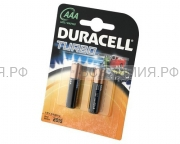 2-х штучная Батарейка Дюраселл ААА (мал.пальч.) мн 2400 *6*12