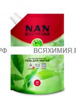 NAN ЗАПАСКА средство для посуды и детских принадлежностей Зеленый чай 800 мл *4*8