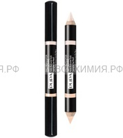 ПУПА Хайлайтер для век DUO HIGHLIGHTER MATT&SHINE 002 розовый