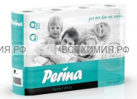 Туалетная бумага PERINA Perfect White 3-х сл. 12 шт *4