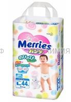 MERRIES Трусики-подгузники для детей размер L 9-14 кг /44шт *1*3