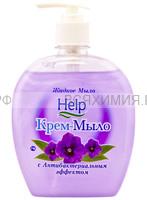 ХЕЛП Жидкое мыло с ДОЗАТОРОМ Антибактериальным эффектом 500мл *6*12