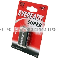 1 шт. EVEREADY Батарейка SUPER (КРОНА) 9V *1*12